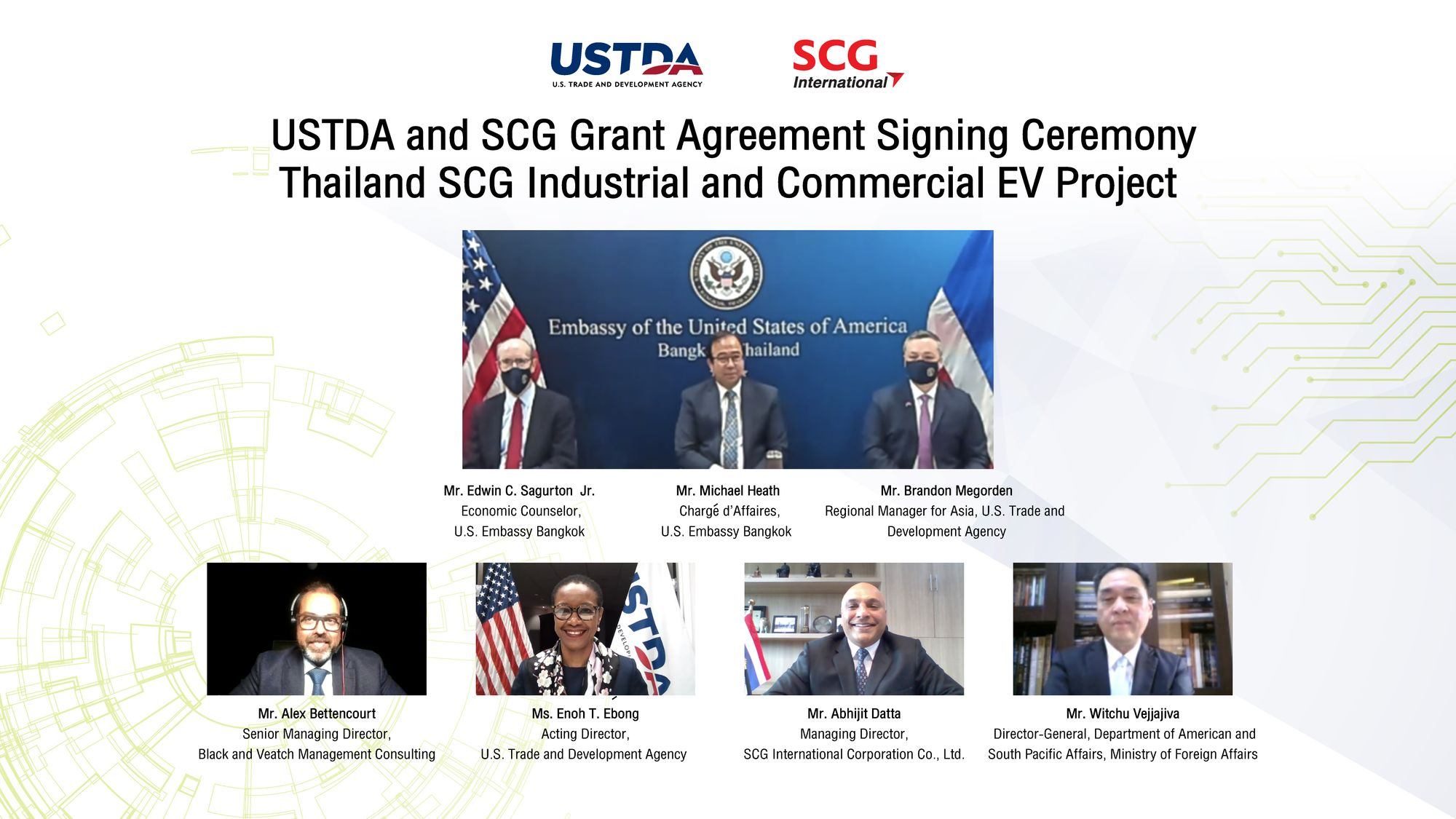 USTDA Supports Electric Vehicle Transition in Thailand (Ver. THAI Below)